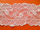 "NEW~ Beautiful IVORY Stretch Scalloped Lace 3.5""/9 cm Lingerie/Trim"
