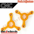 CNC Fork Preload Adjusters 14mm Hex for Suzuki SV1000S 2003-2007