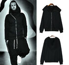 Unisex Cotton Slant Zipper Sorcerer High Street KTZ Hoodie Sweats Coat Jacket
