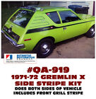 QA-919 1971-72 AMC - AMERICAN MOTORS - GREMLIN X - SIDE STRIPE DECAL