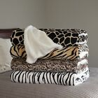 Soft Fuzzy Fleece Blanket with Sherpa Backing 86 x 90 in Queen