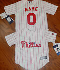 Philadelphia Phillies Cool Base MLB Majestic Kids Youth  Replica Jersey ad name