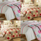 Dreams 'N' Drapes Petticoat Patchwork Applique Quilted Bedspread, 200 x 200 Cm