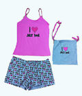 LADIES SUMMER Pink Love My Bed Singlet and Shorts 2pc Set sz8 10 12 14 16