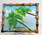 Palm Trees Hand Painted Glass Night Light Home Decor