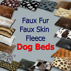 Warm Faux Fur Dog or Cat Pet Bed Pillow Small /Large Washable & Zipped Supersoft