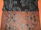 """Superb Delicate Wide Black Gold Stretch French  LACE 8.5"""" Lingerie/Costume/"""