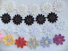 Flower Daisy Lace Trimming Guipure Applique 1 metre x 25mm - 4 Colours