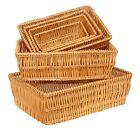 HONEY WICKER WILLOW PACKING STORAGE DISPLAY BASKET TRAY