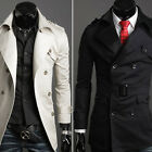 DOUBLE BREASTED SUITS Mens Trench Coat Blazers Formal Casual Dress Overcoat S~XL