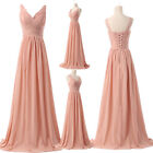 UK PLUS Maternity Long Chiffon Evening Party Gowns Formal Bridesmaids Prom Dress