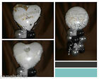 BLACK WHITE ENGAGEMENT PARTY BALLOON TABLE DECORATION DISPLAY