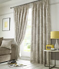 FULLY LINED PLAIN PENCIL PLEAT TAPE TOP HAWTHORNE CURTAINS LINEN COTTON LOOK