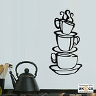 Coffee Cup Kitchen Sign Wall Art Stickers Decals Vinyl Decor Room Mural Quote