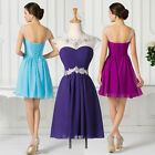 PLUS SIZE Evening Cocktail Party Prom Short Bridesmaid Quinceanera Formal Dress