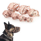 Plastic Dog Puppy Muzzles Basket Cage Adjustable Training Bite Bark Chew Control