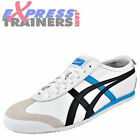 Onitsuka Tiger Mens Mexico 66 Vintage Leather Trainers White Black * AUTHENTIC *