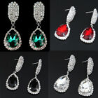 Fashion Womens Dangle Rhinestone Teardrop Shape Stud Earrings Ear studs Jewelry