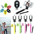 Bluetooth Shutter Extendable Handheld Selfie Stick Monopod for iPhone 5 6 Plus