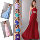 Maternity Long Chiffon Evening Party Formal Dresses Gowns Bridesmaids Prom Dress