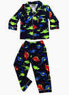 Boys Winter Cotton Flannel 2pc Pyjamas Pjs Navy Blue Dinosaurs sz 3 4 5 6 7