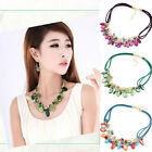 Women Charm Pendant Hand-woven Chain Choker Statement Bib Mash up Necklace