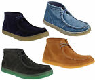 Mens Hush Puppies Aquaice Real Suede Chukka Wallaby Lace Up Boots Sizes 7 to 12