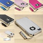 Aluminum Chrome Steel Hard Cover Case Bumper For iPhone 4 4S  w/Protector