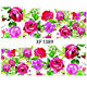 Nail Wraps Nail Art Decals Water Transfers Pink Rose Salon Quality XF1389