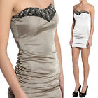 TheMogan Embellished Bead Sweetheart Strapless Ruched Stretch Sexy Dress