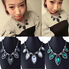 Women's Elegant Jewelry Crystal Rhinestone Pendant Chunky Bib Statement Necklace