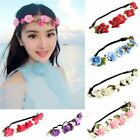 Fashion Womens Flower Rose Head Chain Headband Head Piece Hair band Wreaths Boho