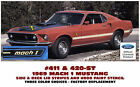 411 420-ST 1969 FORD MUSTANG - MACH 1 STRIPE KIT  and HOOD PAINT STENCIL
