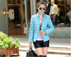 BEAUTIFUL Winter Warm Down Jacket Slim Collar Parka Women Short Coat UK EW