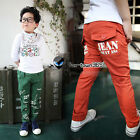 2015 Spring Autumn Toddlers boys baby child kids Letter Go Friend Trousers 3-8Y