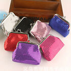 Charm Women Girl Small Sequins Brilliant Purse Coin Wallets Bags Party  9*7cm