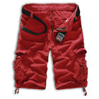 BLACK / KHAKI / RED SHORTS MILITARY MENS SHORT PANTS ARMY CARGO TROUSERS 29+34++