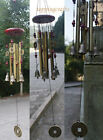 Garden Decor Wood Hanging board Tube Bell With Copper Set Wind Chimes