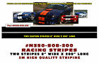 """N350-S08-200 * DUAL LEMANS STRAIGHT RACING STRIPES - 3M QUALITY - 8"""" WIDE"""