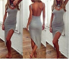 Hot Fashion Sexy Irregular Celebrity Bandage Dress Halter Sleeveless club Dress