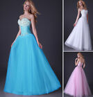 UK CLEARANCE Bridesmaids Long Formal Wedding Homecoming Dresses Graduation Gown