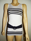 Casual Basic Belt Design Polka Light Weight Sleeveless Tank Cami One Size Top
