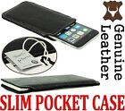 SLIM PREMIUM GENUINE LEATHER POCKET CASE COVER SLEEVE POUCH - RANGE OF MODELS