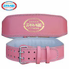 Farabi weight lifting belt pink gym fitness back support foam padded leather