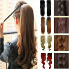 Tie up claw on binding in ponytail clip in hair extensions as real pony tail 1P6