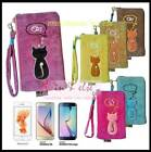 IPHONE 6 / HTC ONE M8 / GALAXY NOTE 2 3 4, S5 S6 Bag Case w/ Purse Animob Velvet