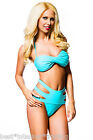 SALE: Beautiful Bandeau Bikini with Strappy Pants - Turquoise - size: XS-S-M