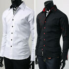 LUXURY Mens Casual Formal Shirts Stylish Long Sleeve Designer Shirts Regular Fit
