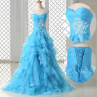 Long Bridesmaids Quinceanera Formal Evening Party Ball Gown WEDDING Prom Dresses