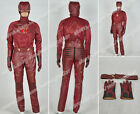 The Flash Cosplay Barry Allen Costume Red Outfit Hooded Jacket Pants Belt Gloves